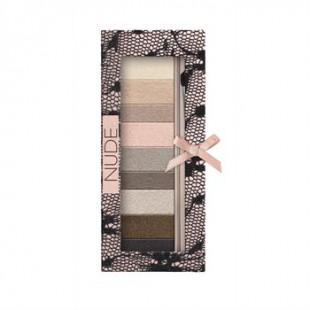 Набор теней для век с кисточкой Custom Eye Enhancing Shadow & Liner Nude / 9 цветов для натурального макияжа Nude
