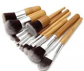 Набор кистей с деревянной ручкой 11 шт