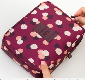 Косметичка- органайзер в розовом цвете(цветочная)