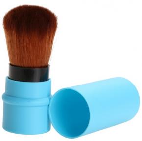 Раздвижная кисть для лица, голубая