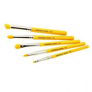 Набор кистей для глаз Yellow Bambu с бамбуковыми ручками / Желтые, 5 шт